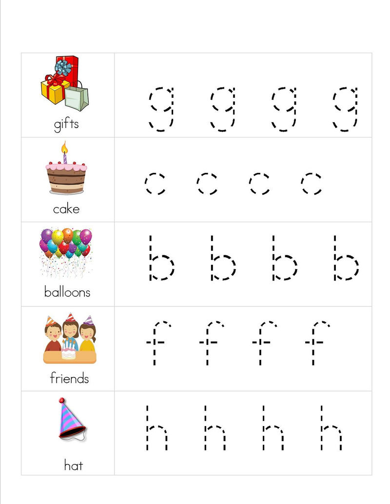 Lower Case Alphabet Worksheets Tracing