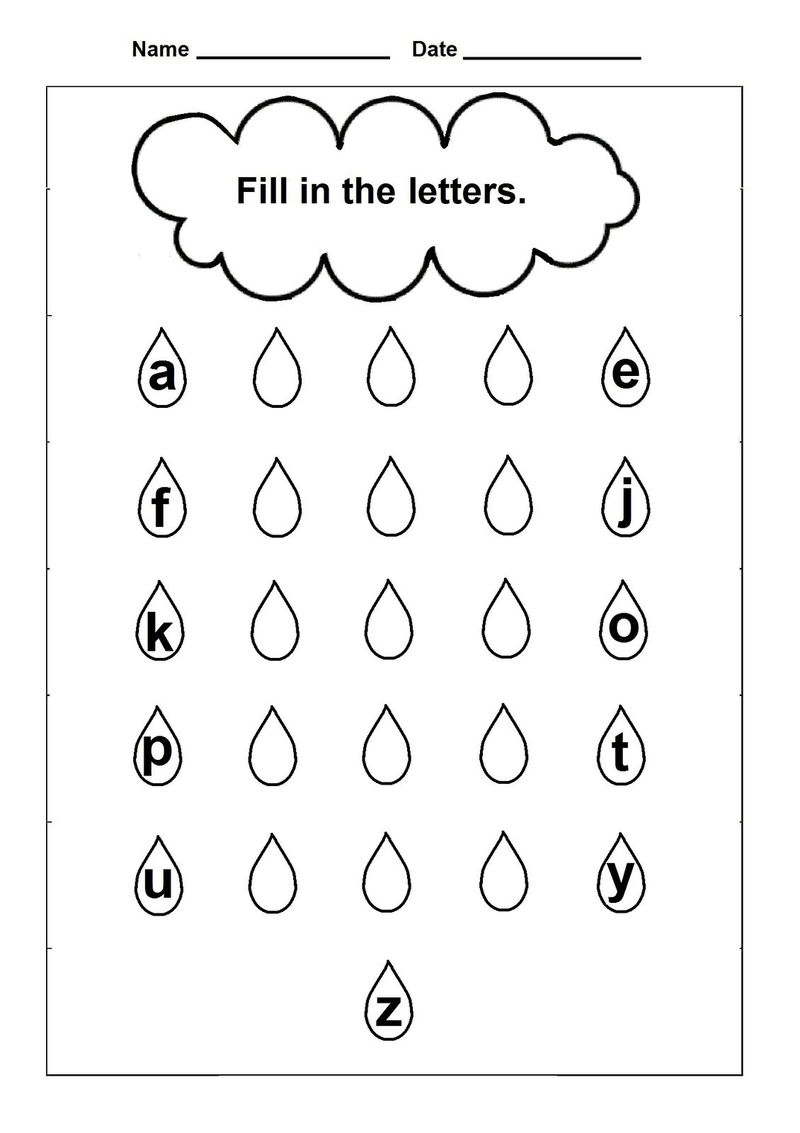 Lowercase A Worksheet For Practice