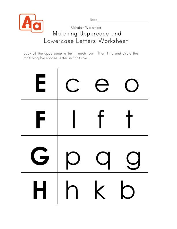 Lowercase Letter Worksheets Abc 001