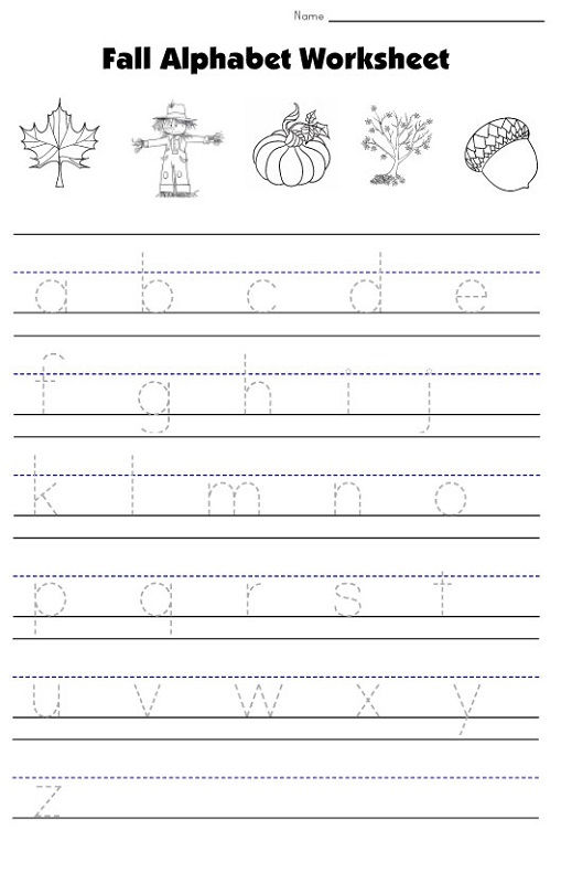 Lowercase Letters Worksheet Fall