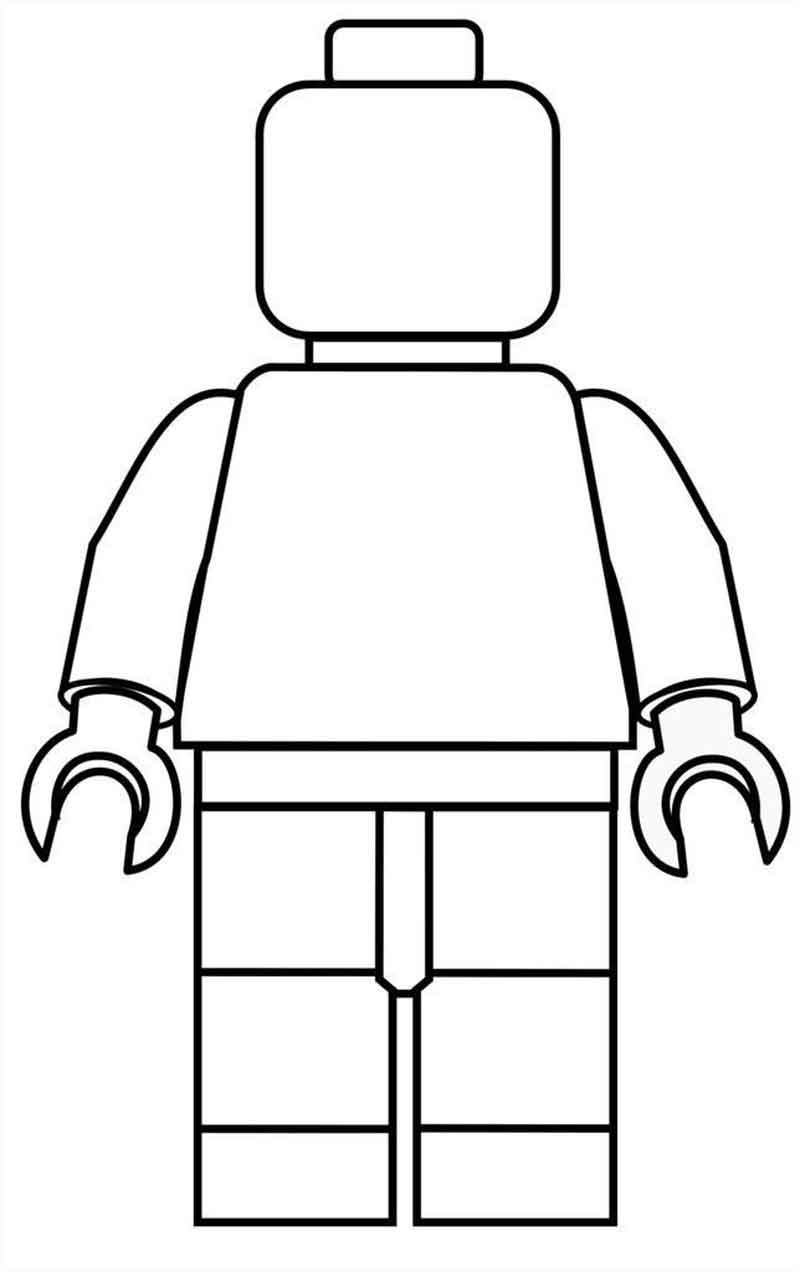 Man Lego Coloring Pages
