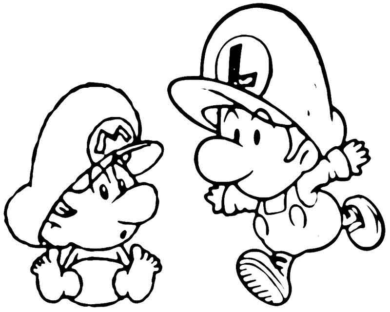 Mario Brothers Coloring Pages To Print
