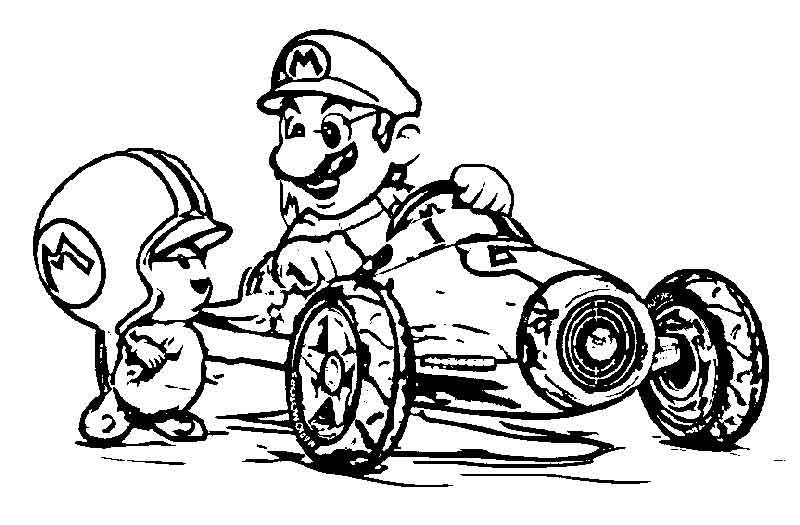Mario Kart Pages To Color