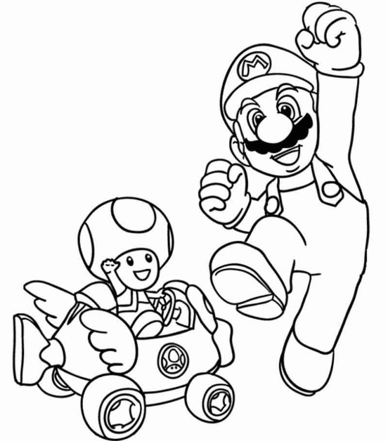 Mario Printable Coloring Pages