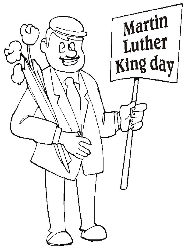 Martin Luther Kind Day Coloring Page