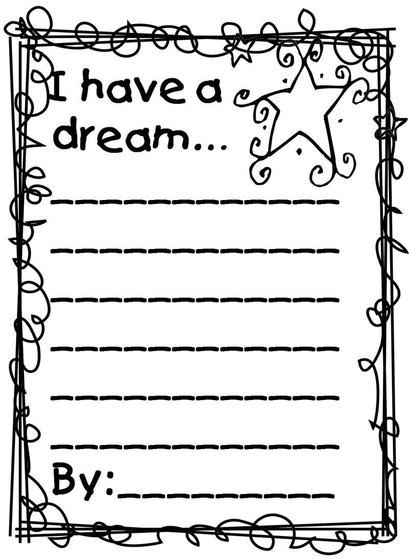 Martin Luther King I Have A Dream Worksheet