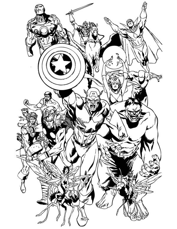 Marvel Coloring Page 001