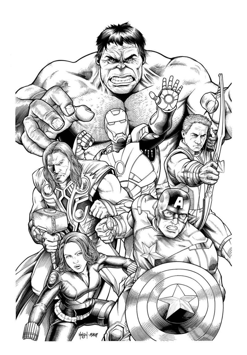 Marvel Comics Avengers Coloring Pages