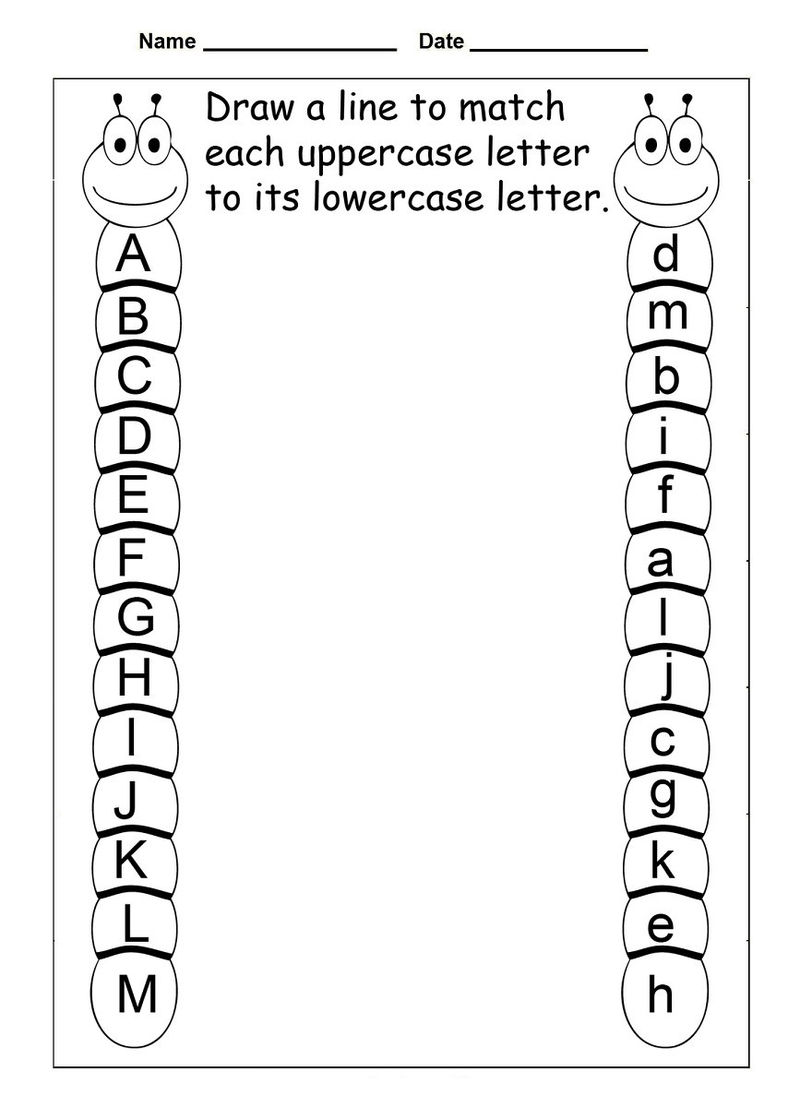 Match Letters Alphabet Worksheet