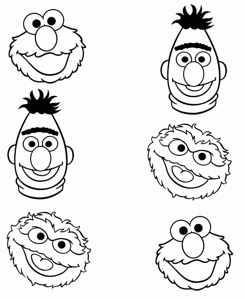 Match The Sesame Street Characters Worksheet
