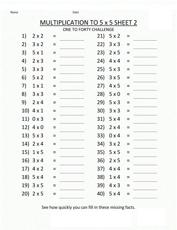 Math Computation Worksheets 2nd