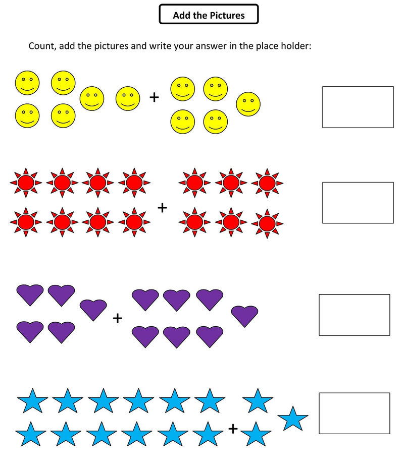 Math Grade1 Pictures Addition