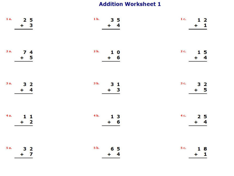 Math Is Fun Worksheets Addition 001
