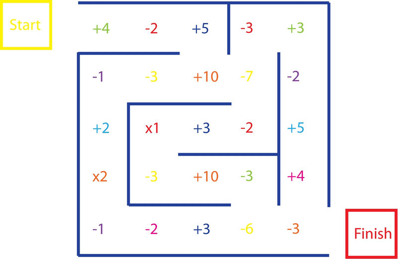 Math Maze Worksheets Colorful