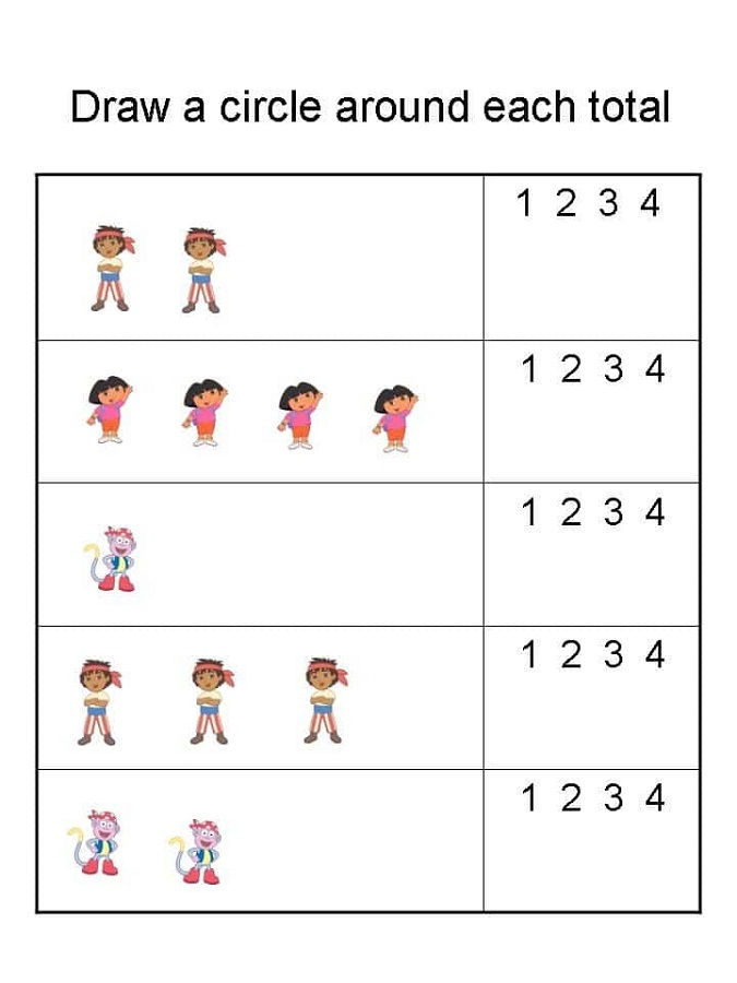 Math Numbers Worksheets For Kids 001