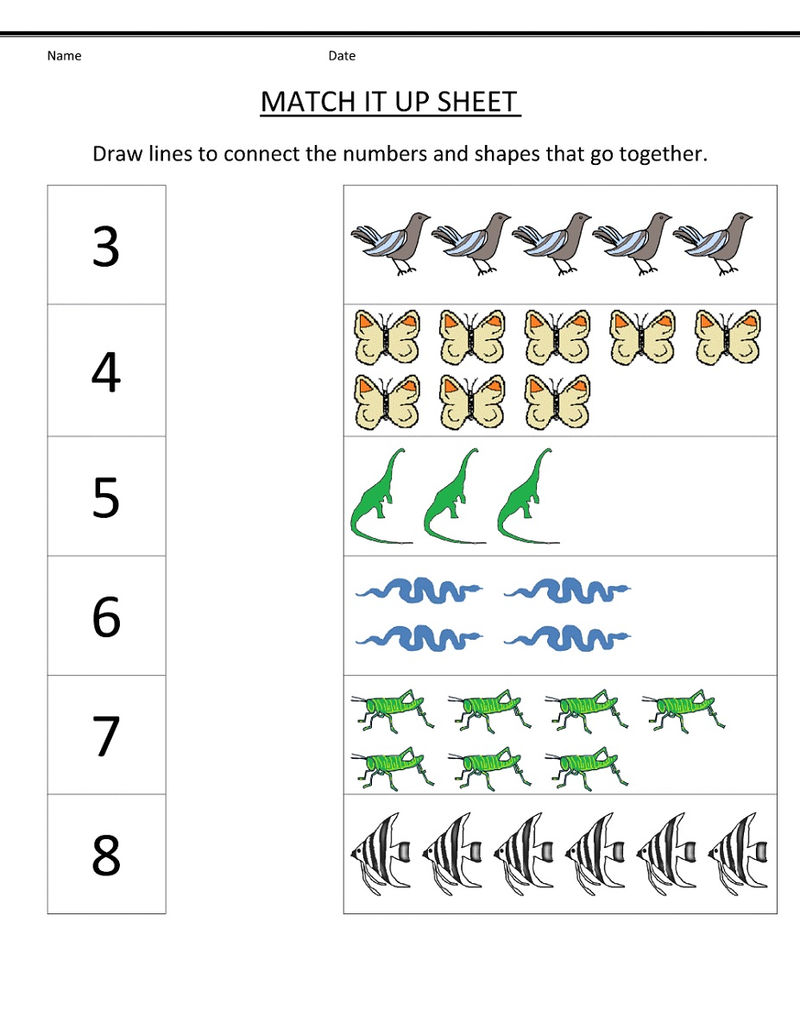 Math Numbers Worksheets Free 001