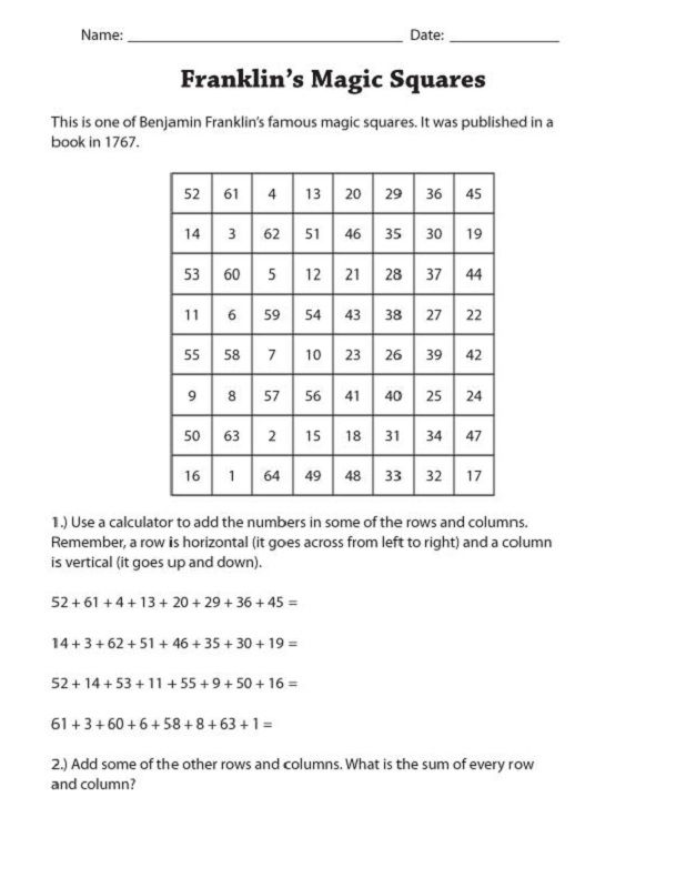 Maths Puzzles For Kids Worksheets 001