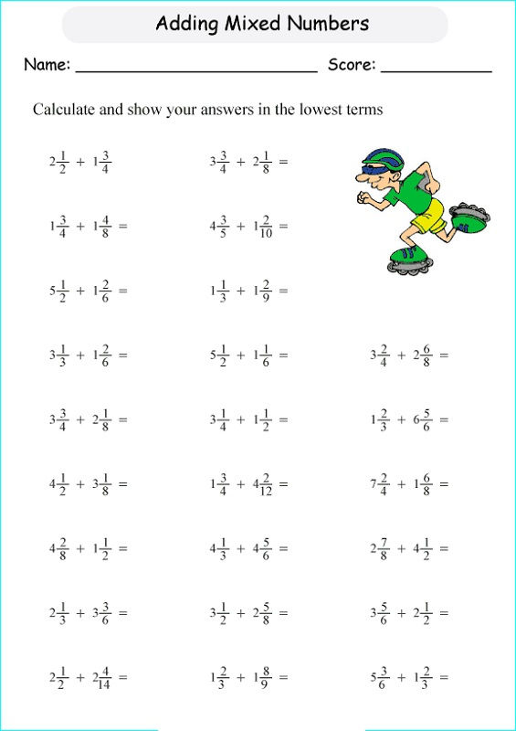 Maths Worksheets Year 5 Free Online Addition