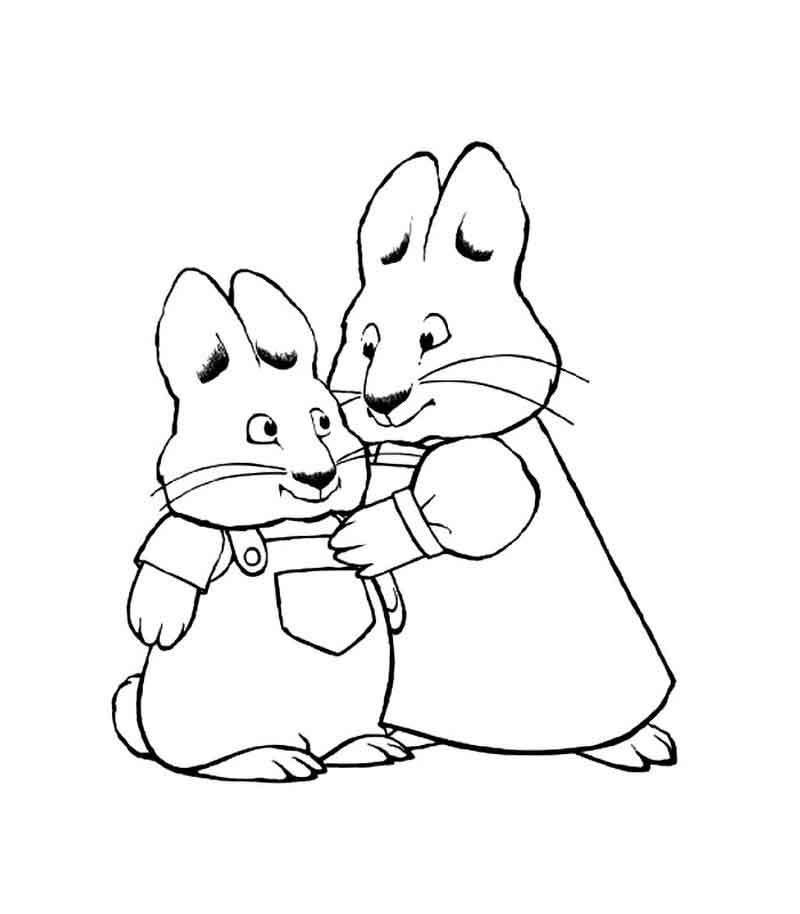 Max And Ruby Coloring Page