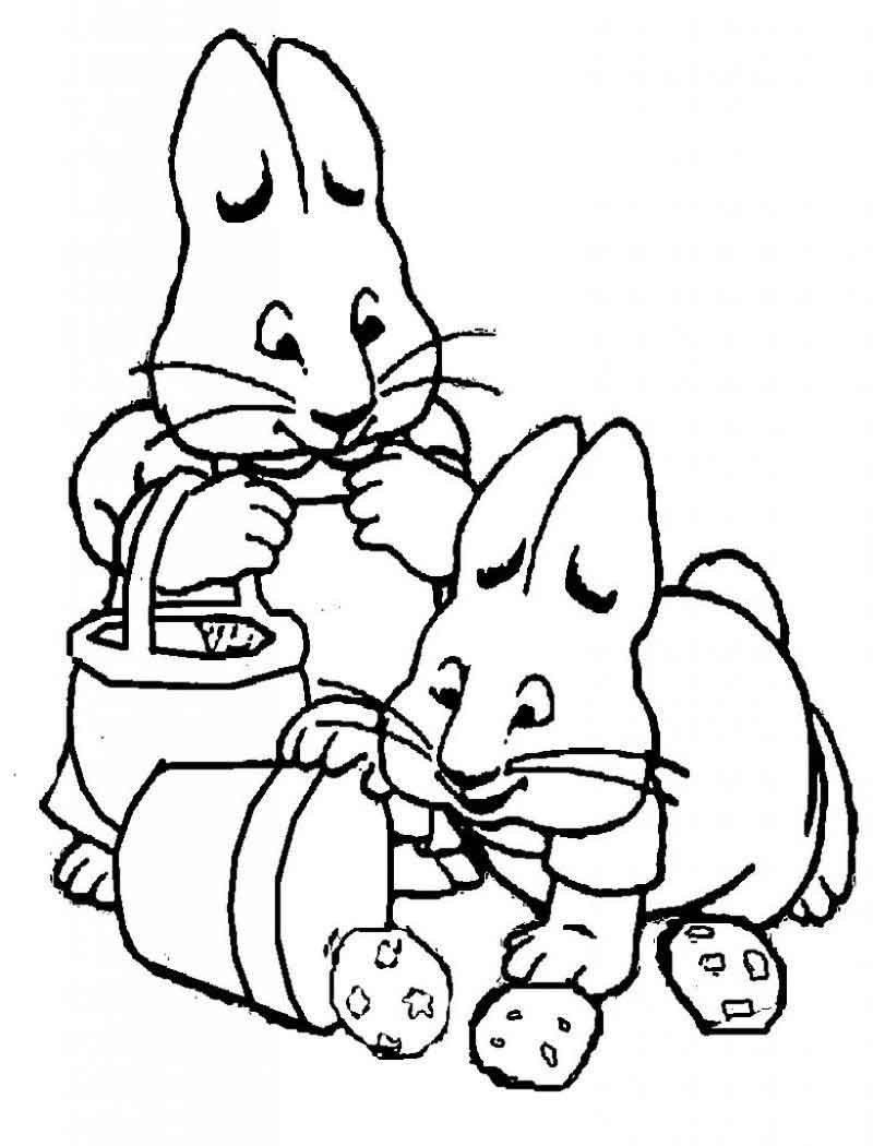 Max And Ruby Printable Coloring Pages