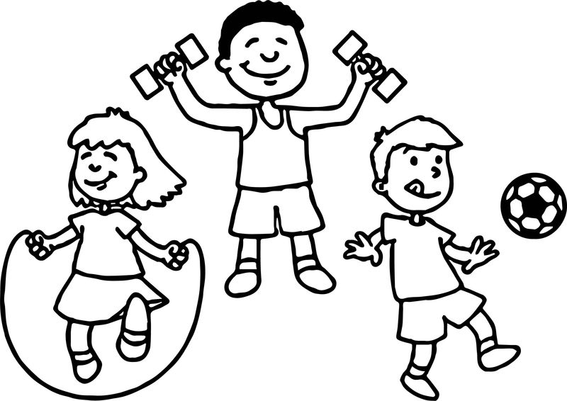 May Sports Coloring Page