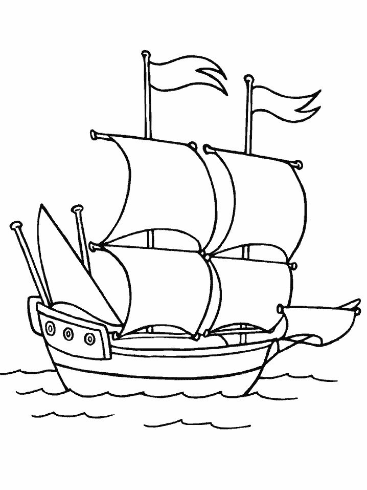 Mayflower Coloring Page Free