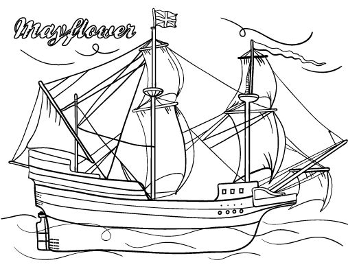 Mayflower Coloring Pages 1