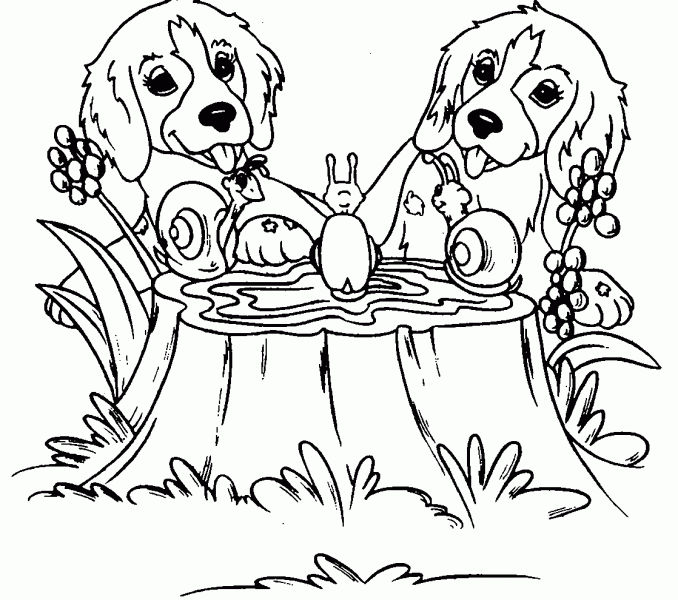 Mealtime Dog Coloring Pages