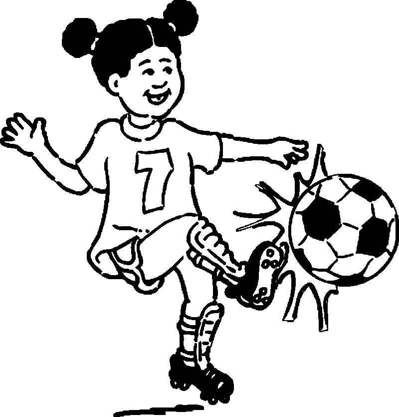 Mean Football Player Playing Football Coloring Page