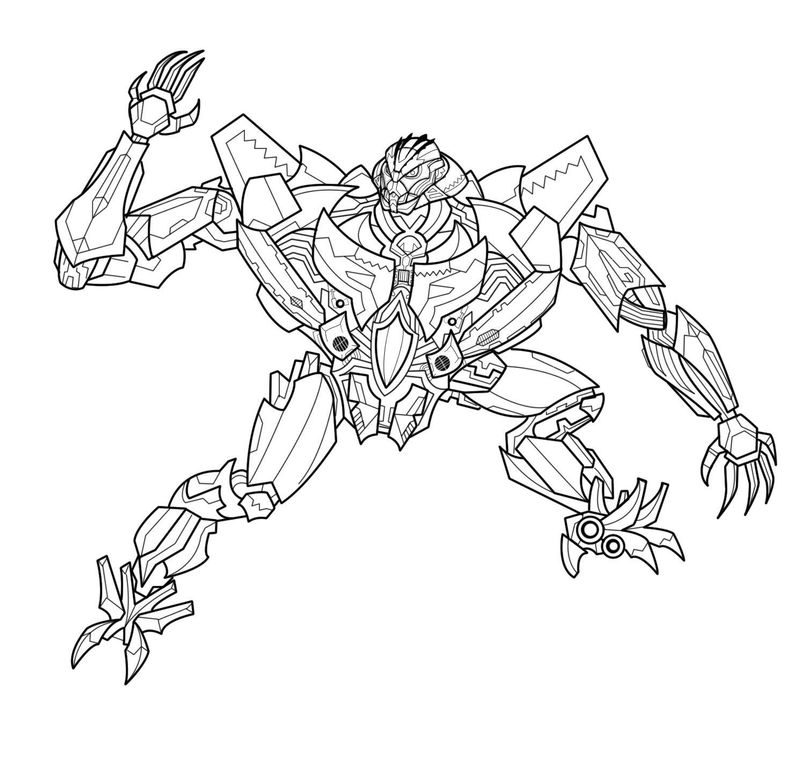Megatron Transformers Coloring Pages