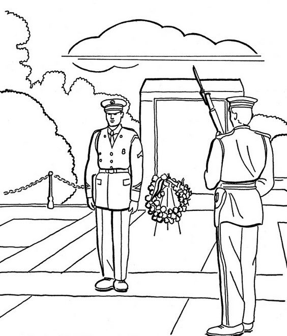 Memorial day coloring page printables