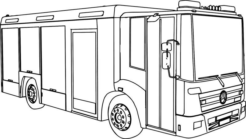 Mercedes Econic Fire Truck Coloring Page