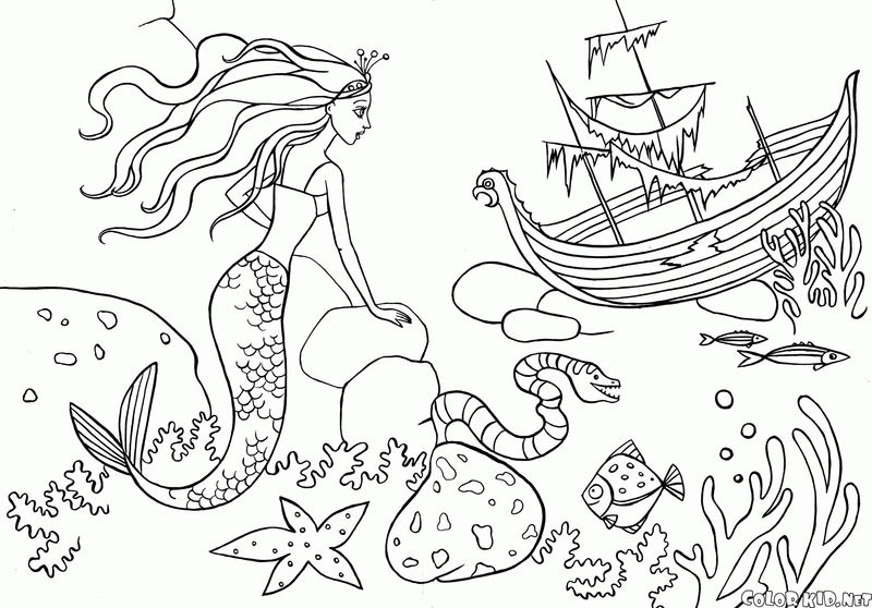 Mermaid Coloring Pages For Teenagers