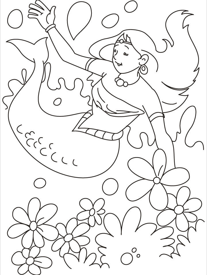 Mermaid Coloring Pages To Print1