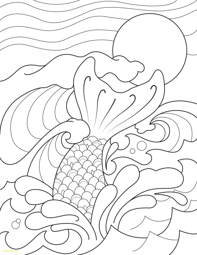 Mermaid Tail Coloring Pages