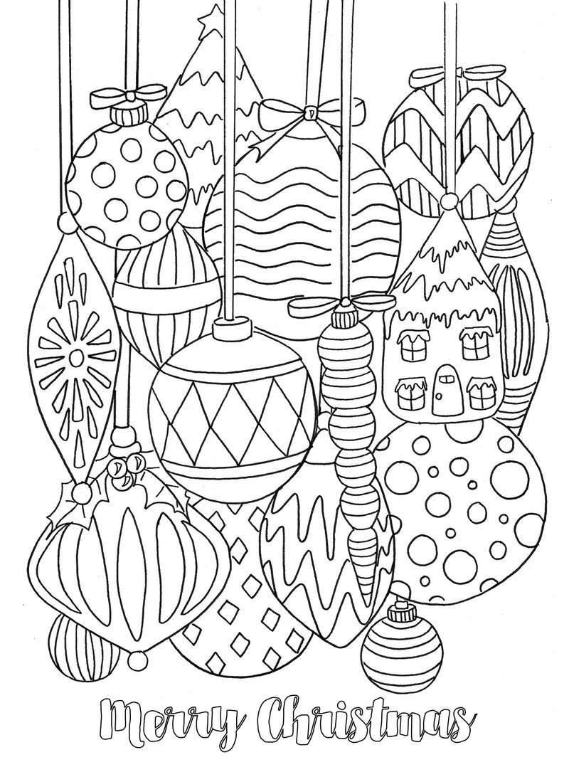 Merry Christmas Coloring Page Printables