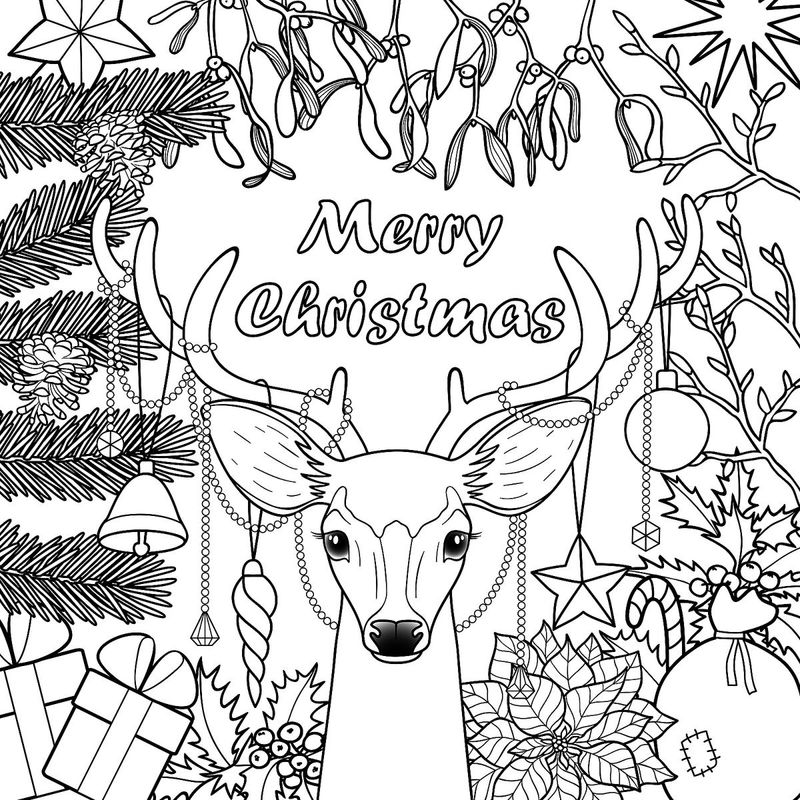 Merry Christmas Coloring Pages | FREE COLORING PAGES
