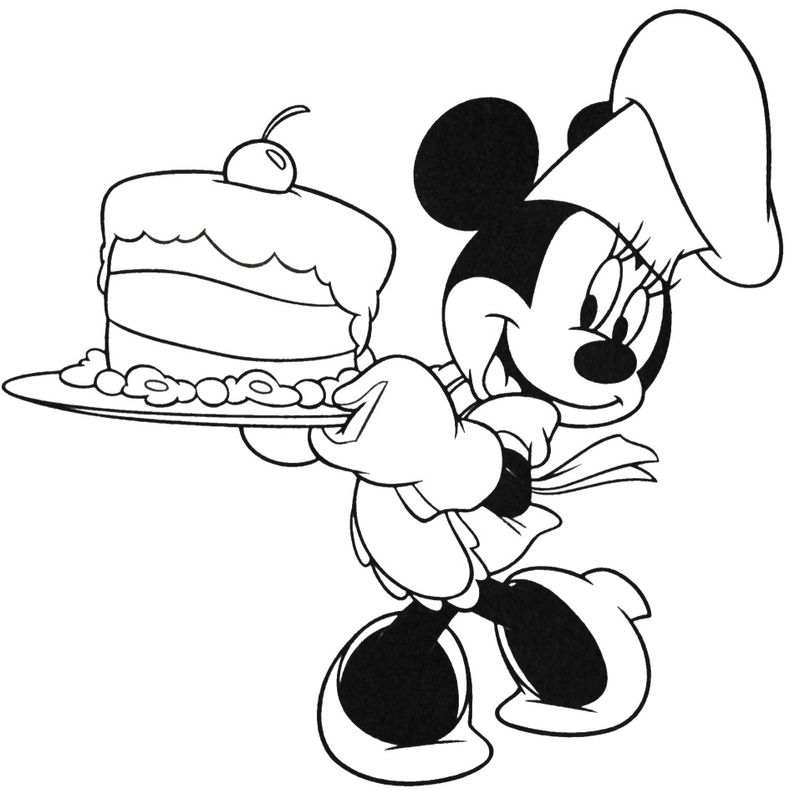 Mickey Mouse Birthday Coloring Pages | FREE COLORING PAGES