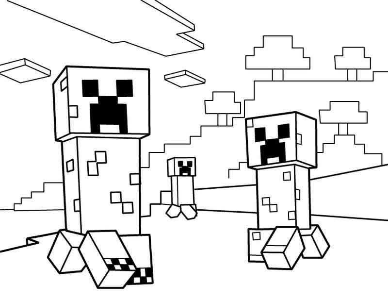Minecraft Coloring Page Printable
