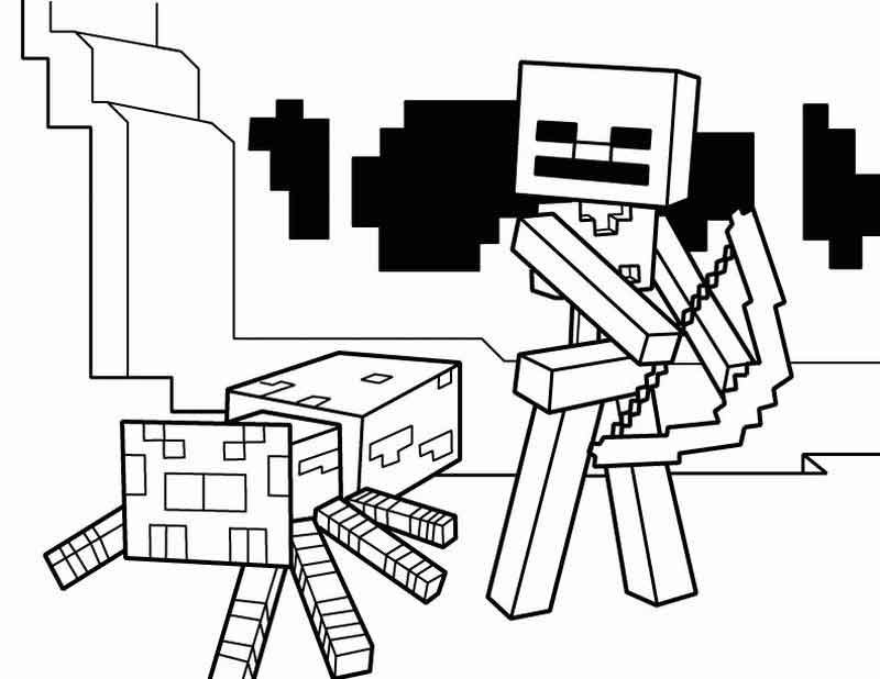 Minecraft Coloring Pages Bow And Arrow