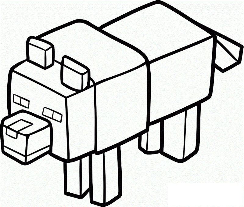 Minecraft Coloring Pages Pig 001