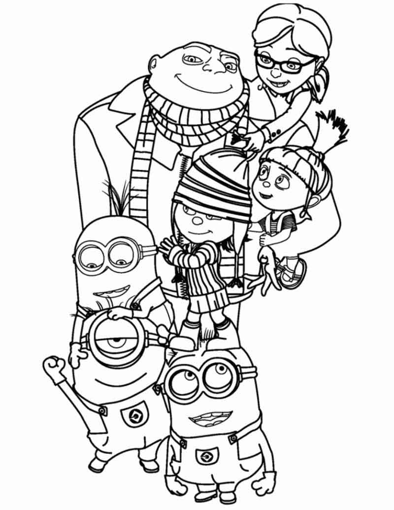 Minion Coloring Pages Printables