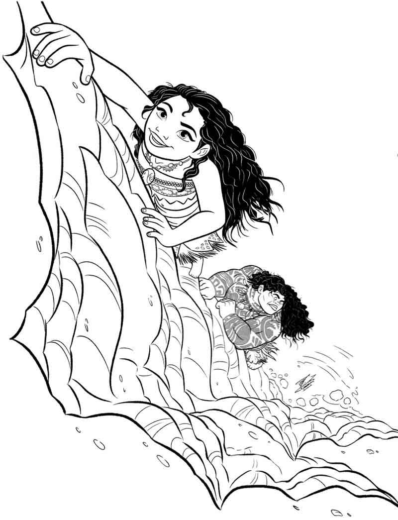 Moana Coloring Pages Moana And Maui