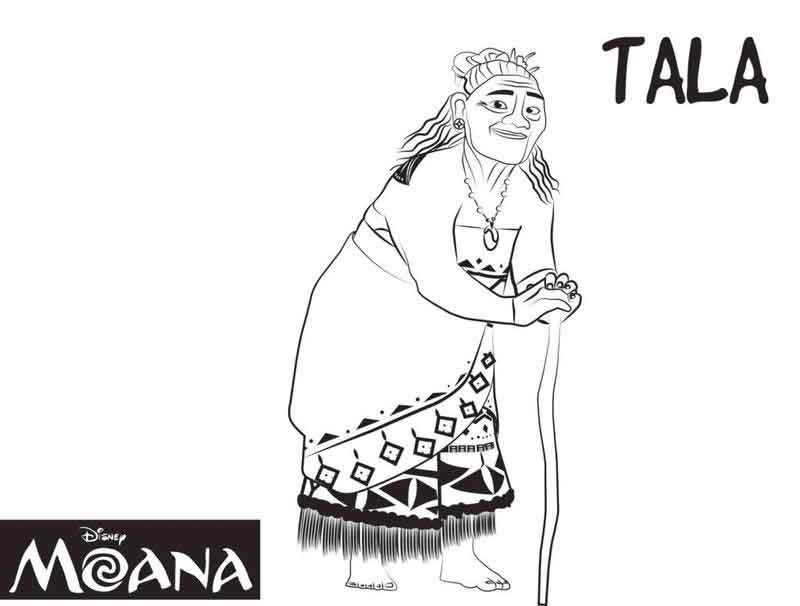 Moana Coloring Pages Tala