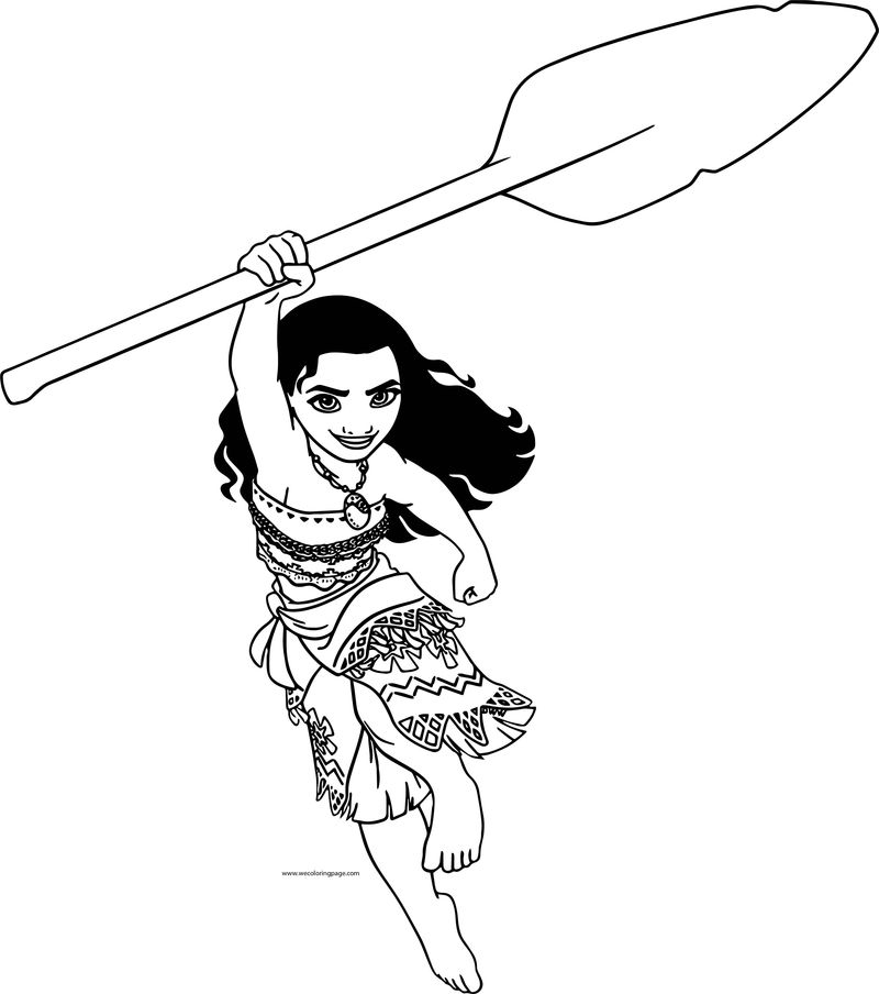 Moana Go Coloring Page