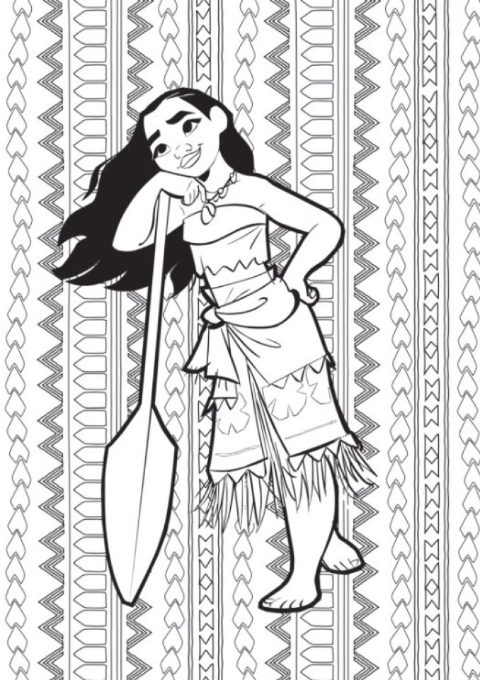 Moana Pattern Coloring Pages