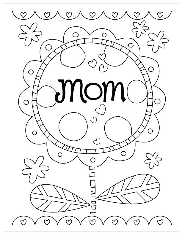 Mom Flower Mothers Day Coloring Pages