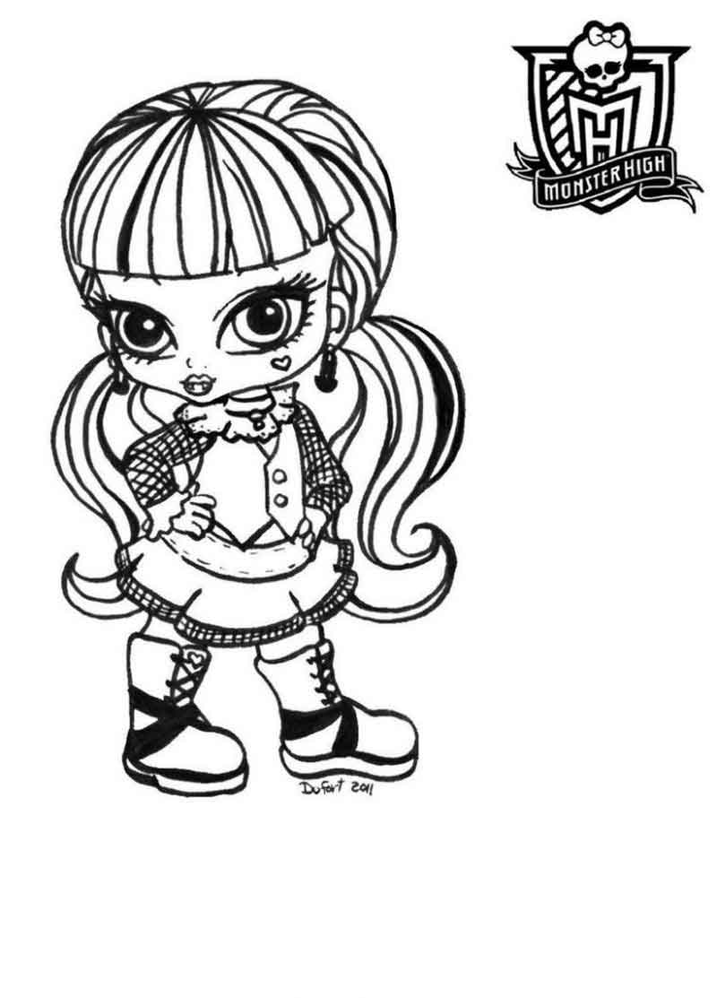 Monster High Baby Coloring Pages Images