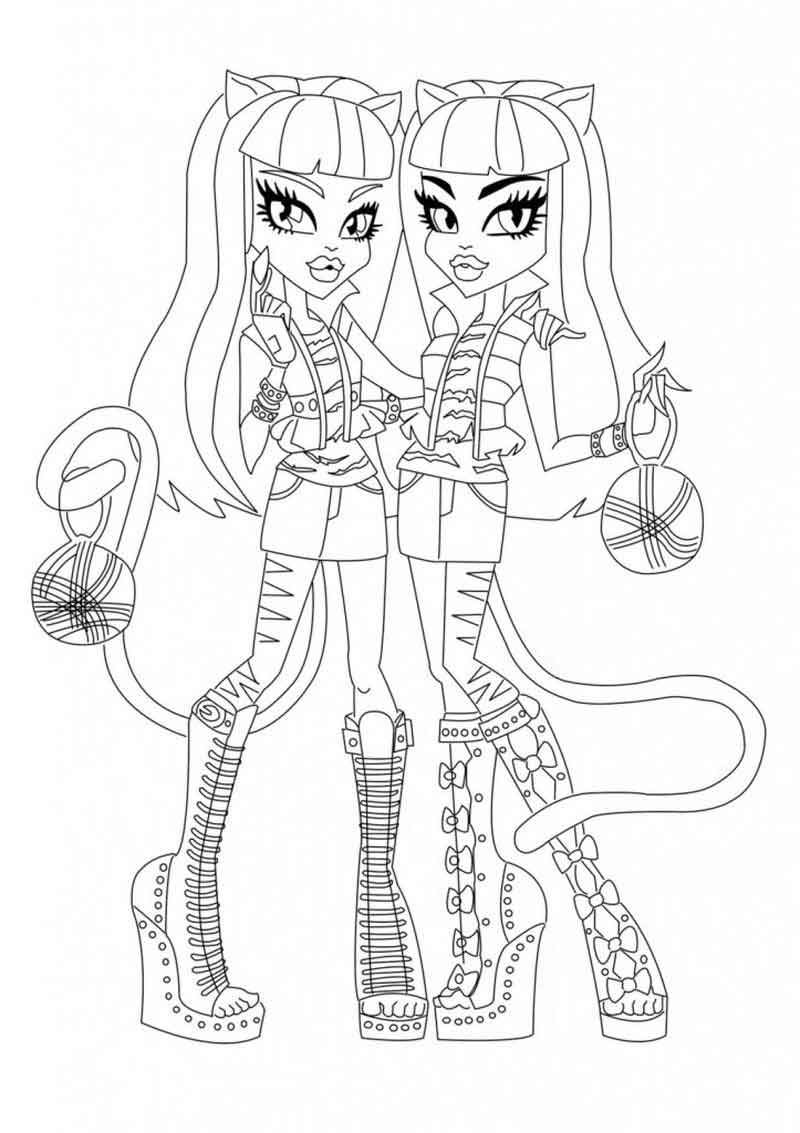 Monster High Coloring Book Pages