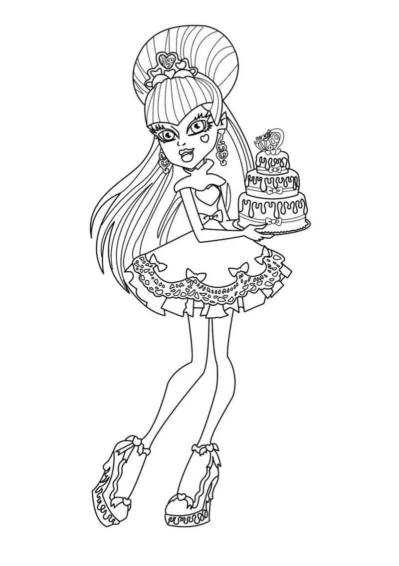 Monster High Coloring Page Image